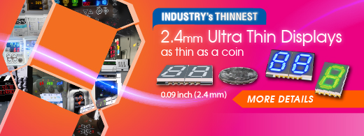 Industry�s Thinnest SMD Displays