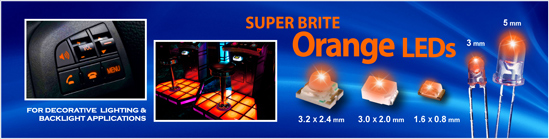 Super Brite Orange LEDs